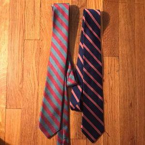 Bundle of 2 J crew ties